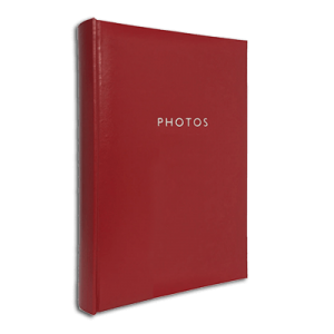 Glamour Red – 300 Photo Slip-In Album