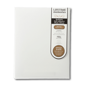 NCL Self Adhesive A4 Slim White Refillable Photo Album